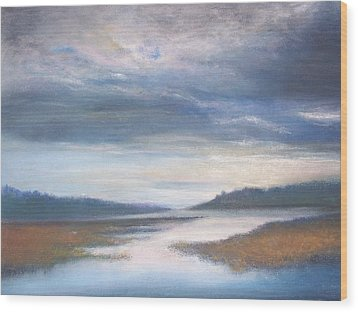 Hood Canal - High Tide Wood Print by Jackie Bush-Turner