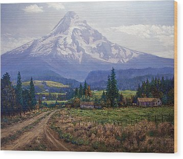 Hood River Valley Wood Print by Donald Neff