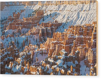 Hoodoo Sunrise Wood Print