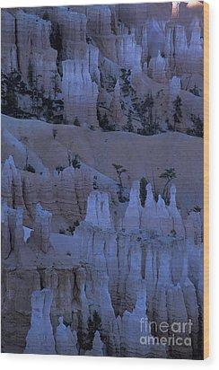 Hoodoos Before Dawn Wood Print by Stan and Anne Foster