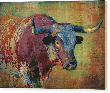 Hook 'em 2 Wood Print by Colleen Taylor