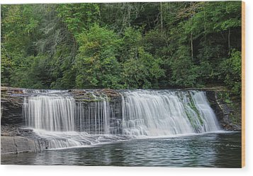 Wood Print featuring the photograph Hooker Falls by Steven Richardson