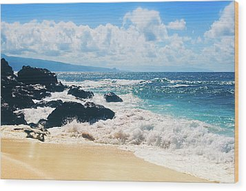 Wood Print featuring the photograph Hookipa Beach Maui Hawaii by Sharon Mau