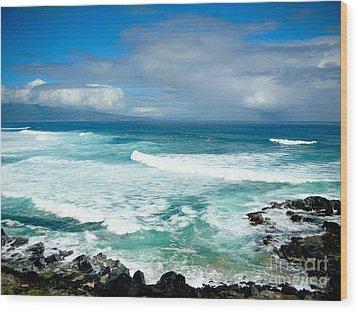 Hookipa Beach Maui Wood Print by Kelly Wade