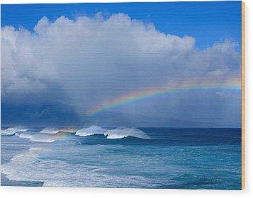 Ho'okipa Rainbow Wood Print