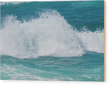 Wood Print featuring the photograph Hookipa Splash Waves Beach Break Shore Break Pacific Ocean Maui  by Sharon Mau