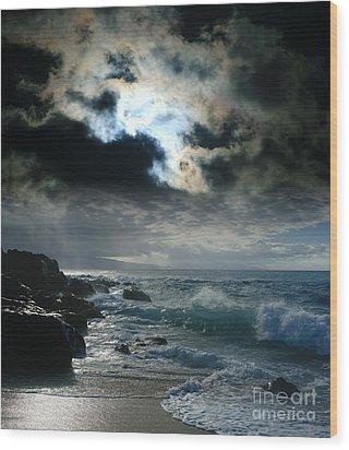 Hookipa Waiola  O Ka Lewa I Luna Ua Paaia He Lani Maui Hawaii  Wood Print by Sharon Mau
