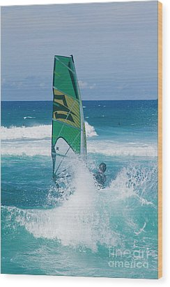 Wood Print featuring the photograph Hookipa Windsurfing North Shore Maui Hawaii by Sharon Mau