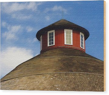 Wood Print featuring the photograph Hoosier Cupola by Sandy MacGowan