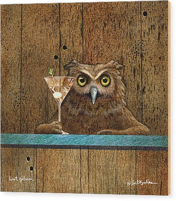 Wood Print featuring the painting Hoot Gibson... by Will Bullas