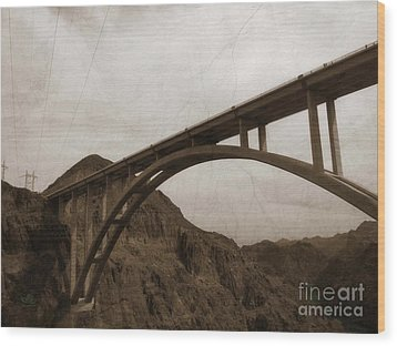 Hoover Dam Bridge Wood Print