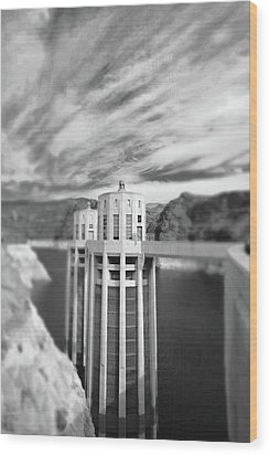 Hoover Dam Intake Towers No. 1-1 Wood Print