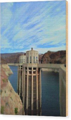 Hoover Dam Intake Towers No. 1 Wood Print