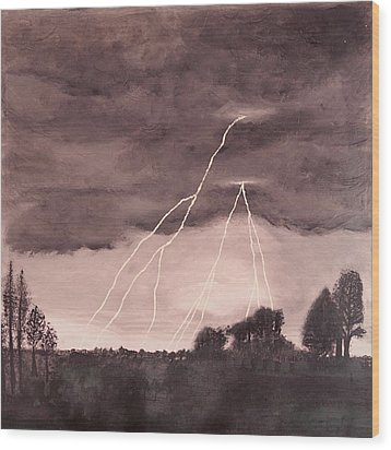 Hope After The Storm Wood Print by Dawn Hay