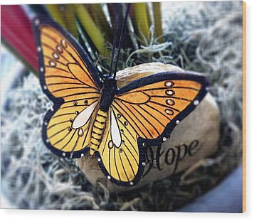 Hope Wood Print by Carlos Avila