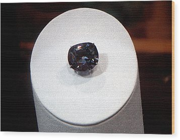 Hope Diamond 45.52 Carats Wood Print by LeeAnn McLaneGoetz McLaneGoetzStudioLLCcom