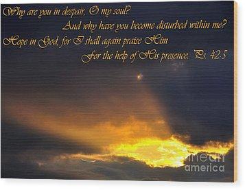 Hope In God Wood Print by Thomas R Fletcher