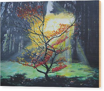 Hope Wood Print by Ken Day