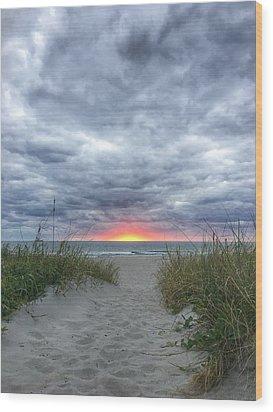 Hope On The Horizon Delray Beach Florida  Wood Print