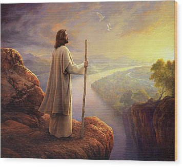 Wood Print featuring the painting Hope On The Horizon by Greg Olsen
