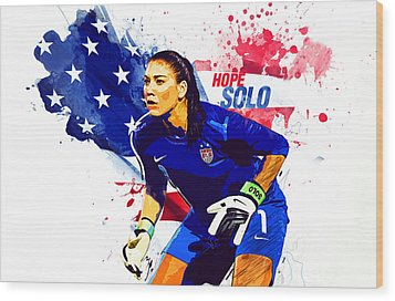 Hope Solo Wood Print
