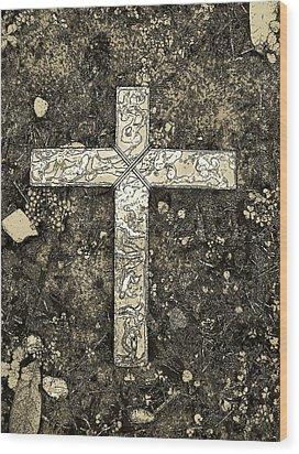 Hope Still Another Look In Sepia Wood Print by Deborah Montana