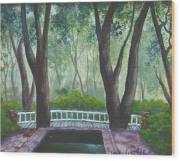 Hopeland Gardens Pool Wood Print