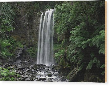 Wood Print featuring the photograph Hopetoun Falls by Marion Cullen