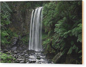 Hopetoun Falls Wood Print by Marion Cullen