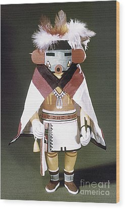 Hopi Kachina Doll Wood Print by Granger