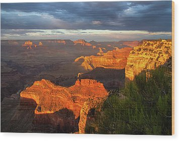Wood Print featuring the photograph Hopi Point Sunset 1 by Arthur Dodd