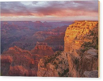 Wood Print featuring the photograph Hopi Point Sunset 3 by Arthur Dodd
