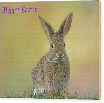 Wood Print featuring the photograph Hoppy Easter  by Donna Kennedy