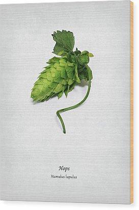 Hops Wood Print by Mark Rogan