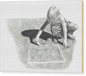 Hopscotch Wood Print by Joyce Geleynse