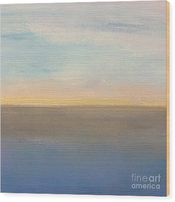 Wood Print featuring the painting Horizon Aglow by Kim Nelson