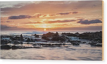 Wood Print featuring the photograph Horizon In Paradise by Heather Applegate