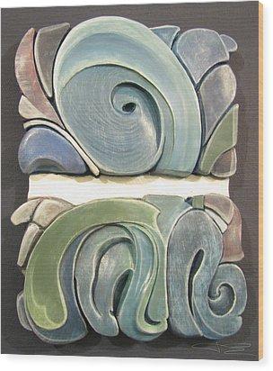 Horizon Wood Print by James Day