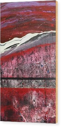 Wood Print featuring the painting Horizon X 3 by Carolyn Repka