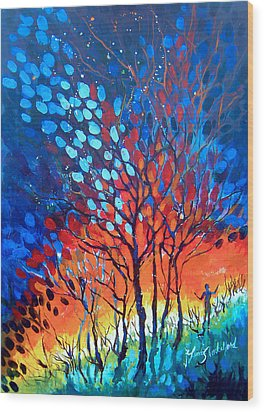 Horizons Wood Print by Linda Shackelford