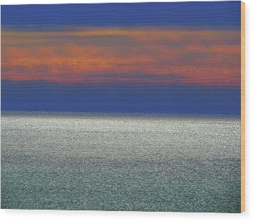 Horizontal Sunset Wood Print