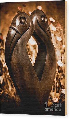 Hornbills Wood Print by Venetta Archer