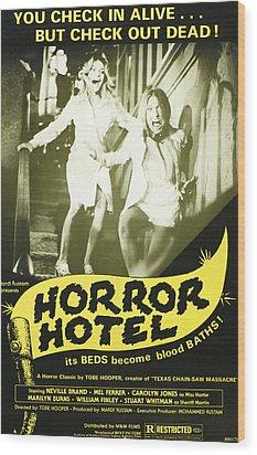 Horror Hotel, Aka City Of The Dead Wood Print by Everett