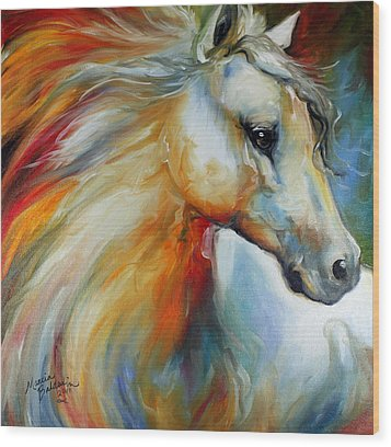 Horse Angel No 1 Wood Print by Marcia Baldwin