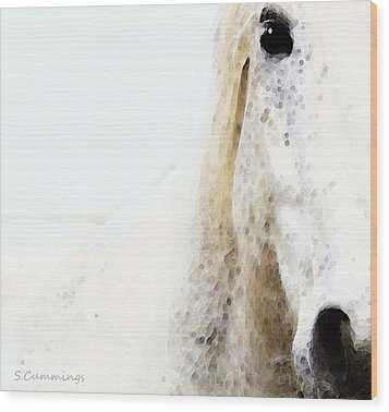 Horse Art - Waiting For You  Wood Print by Sharon Cummings