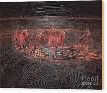 Horse Chestnut Pass Wood Print