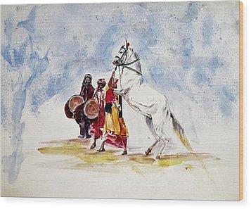 Horse Dance Wood Print
