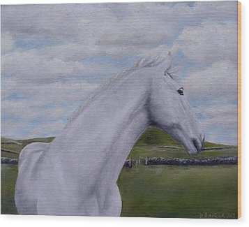 Wood Print featuring the painting Horse by Diane Daigle