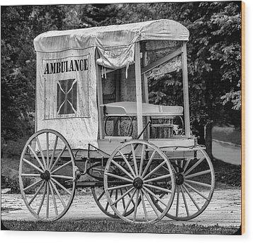 Horse Drawn Ambulance  Wood Print by Ken Morris