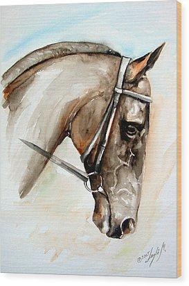 Horse Head Wood Print by Leyla Munteanu